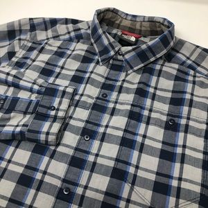 The North Face Long Sleeve Snap Button Plaid Shirt
